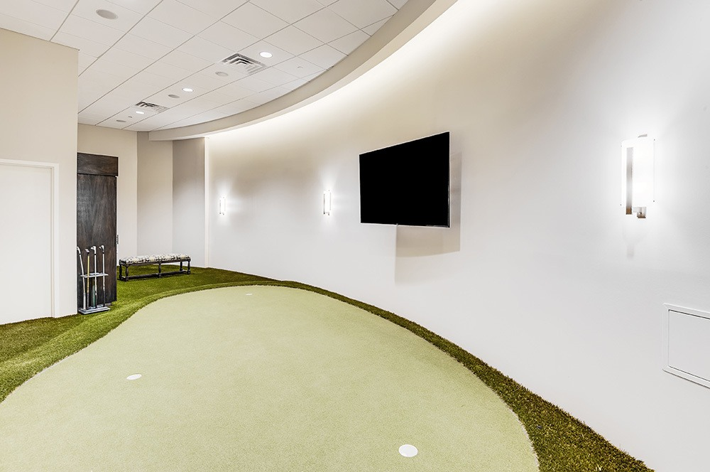 GOLF SIMULATOR putting green