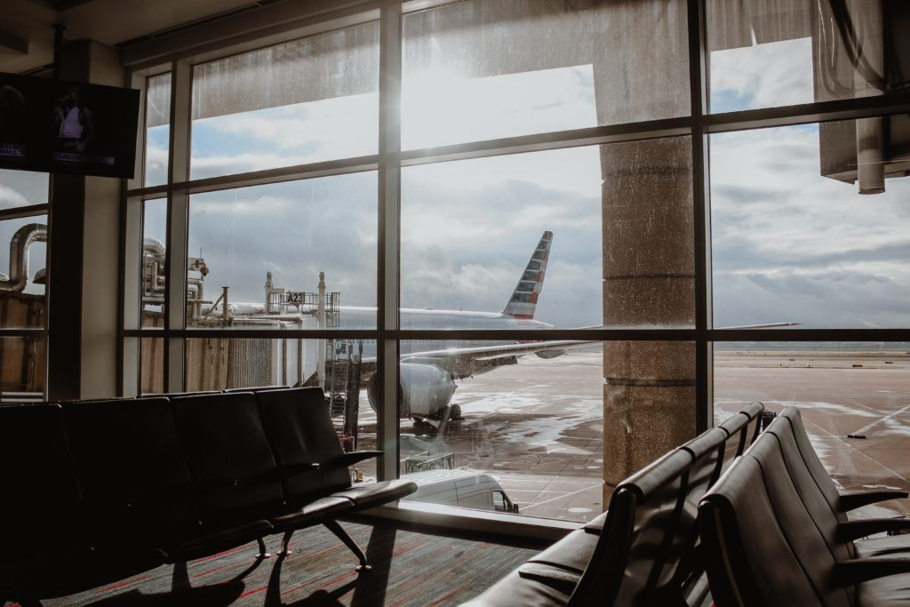industrial - airport and airplane